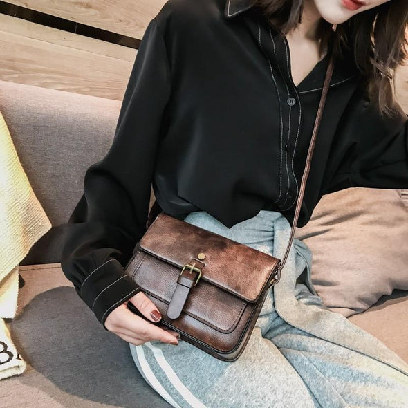 Vintage Women Flap Fashion Casual Leather Shoulder Bags Lady Crossbody Messenger Bag Elegant Envelop Clutch Purse