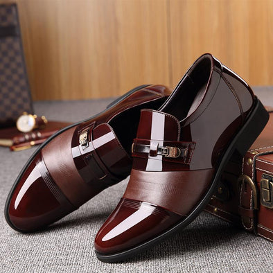 Patent Leather Shoes Men's Formal Shoes Casual Flats