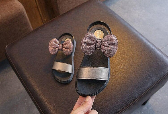 New Summer open-Toe Girls Sandals Children Bowtie Shoes Kids Party Shoes For Girl Princess Children Sandals Size 27-37