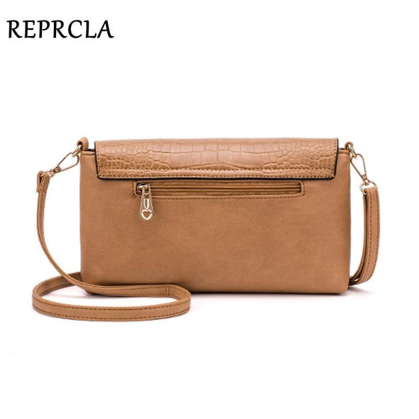 REPRCLA Fashion Women Shoulder Bag Designer Handbag Leather Women's Crossbody Messenger Bags Ladies Purse Female Flap Bolsa