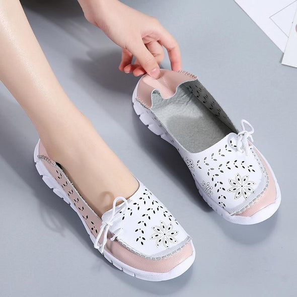 Women flats genuine leather shoes slip on ballet flats ballerines flats woman moccasins flat loafers shoes