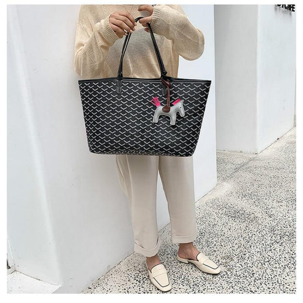 Women Shopping Bag Vegetable Basket 2019 New Large-capacity Shoulder Bag Horse Decoration Tote Bag Lady Big Handbag and Purse