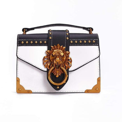 Fashion Metal Lion Head Mini Small Square Pack Shoulder Bag  Handbags