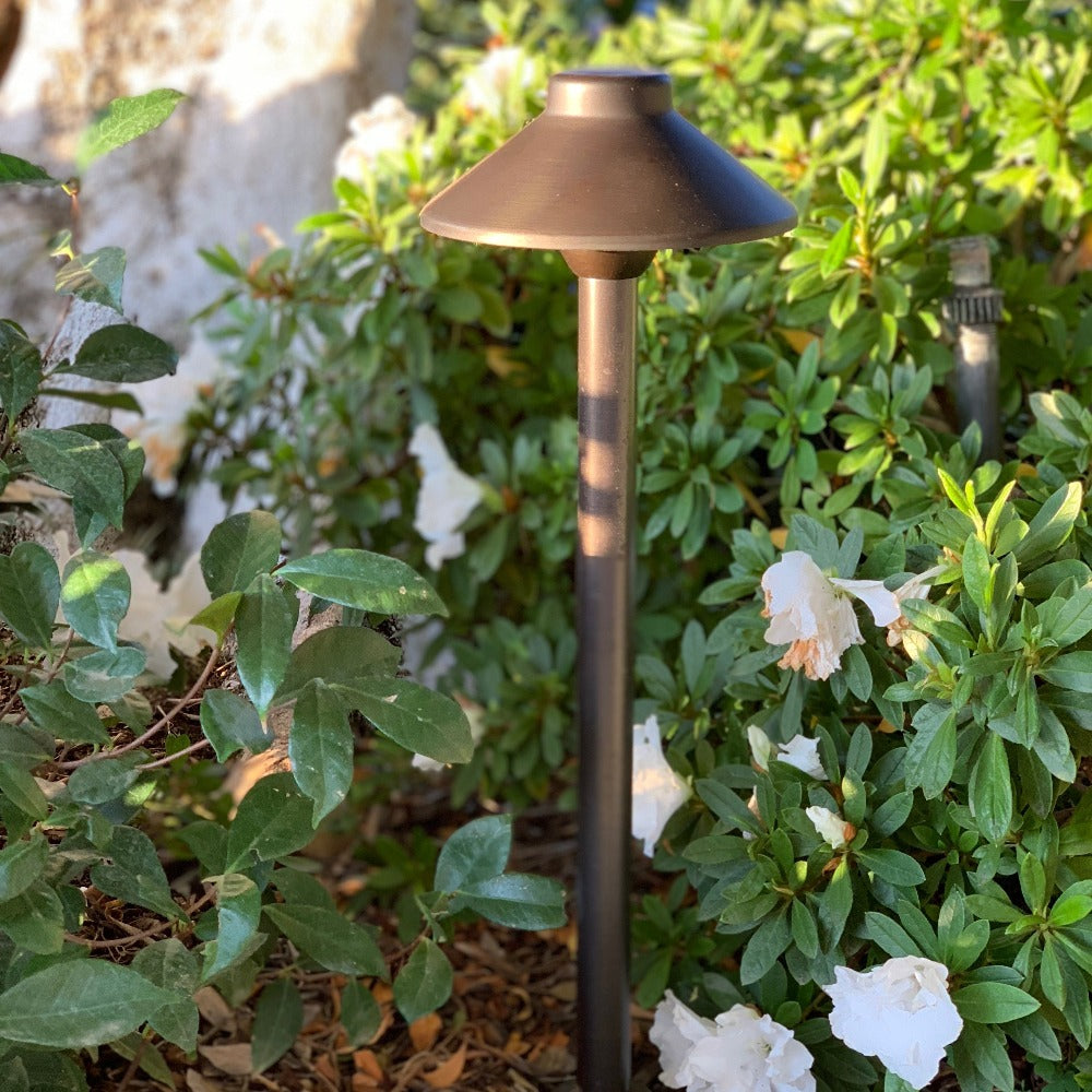 PLB02 12V G4 Low Voltage Heavy Duty Cast Brass Outdoor LED Path Light