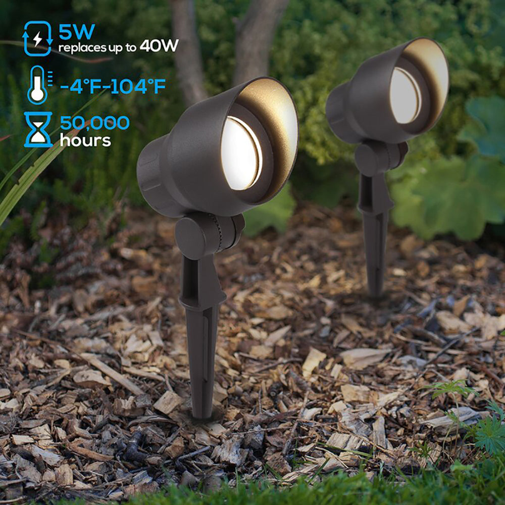 CD45 Black LED Directional Uplight Outdoor Monopoint Lighting fixtures
