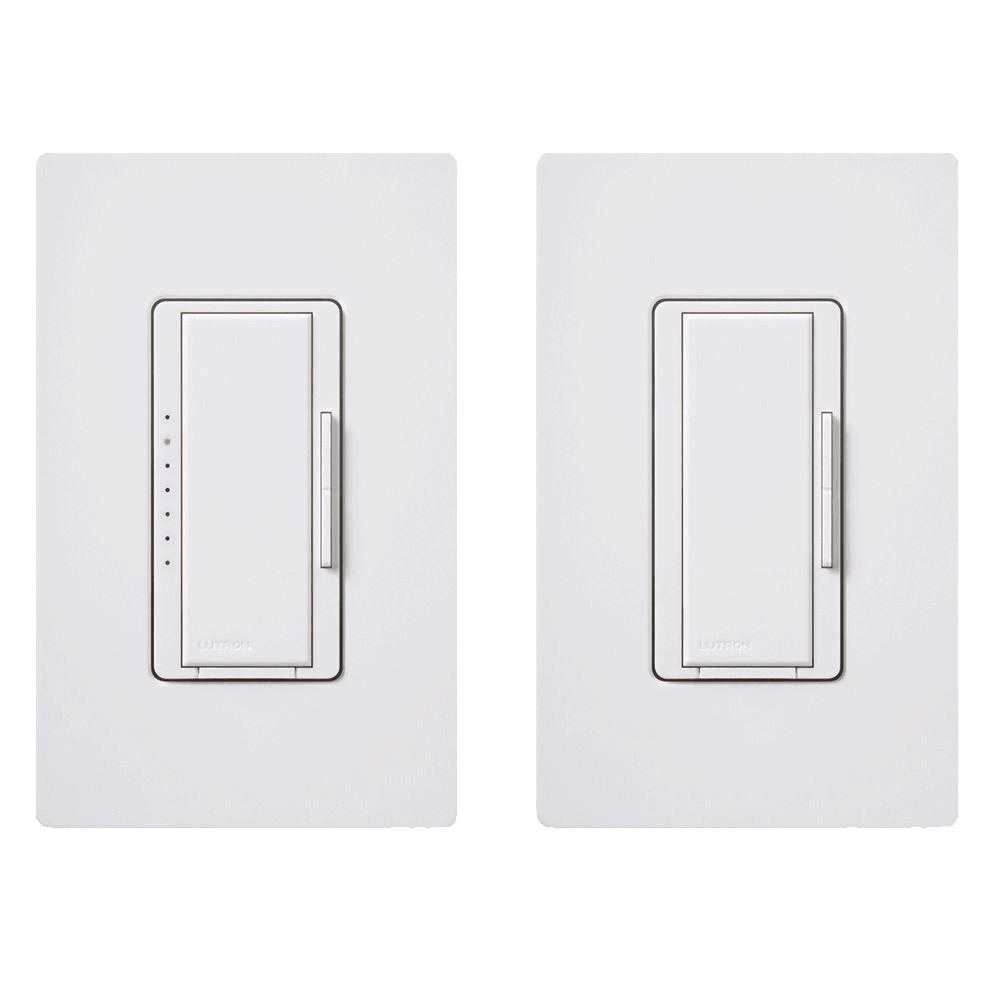 Lutron Maestro C.L Digital Dimmer Multi-Location Switch Kit, White