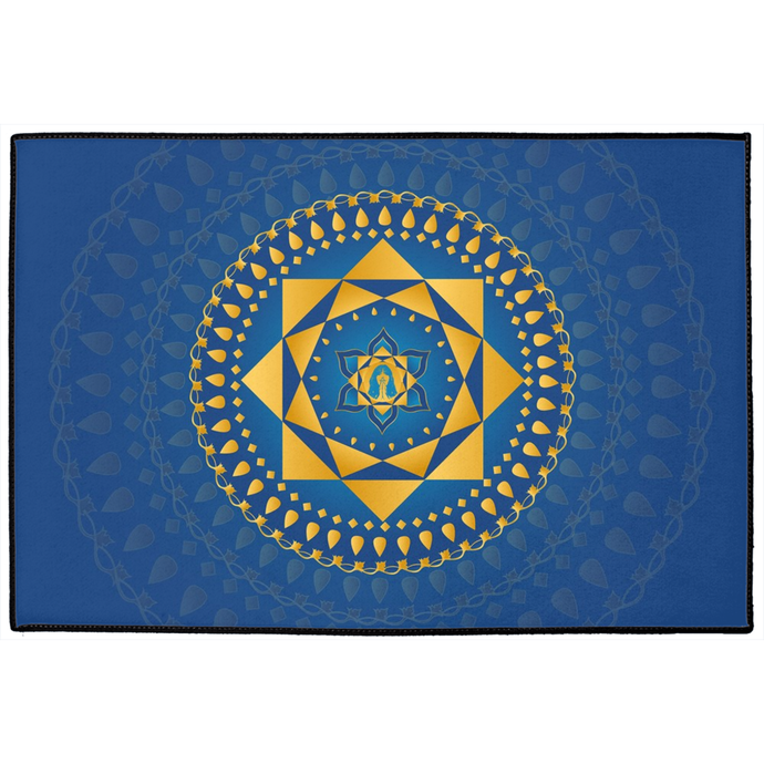 Ashta Lakshmi Door Mat Blue