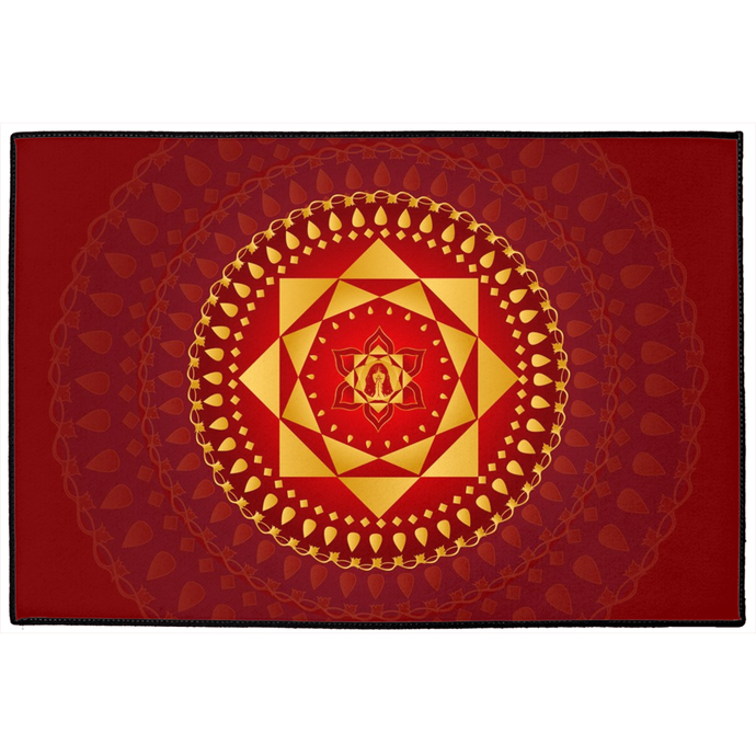 Ashta Lakshmi Door Mat Red