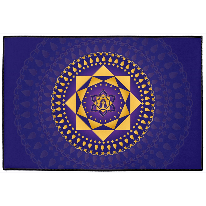 Ashta Lakshmi Door Mat Purple