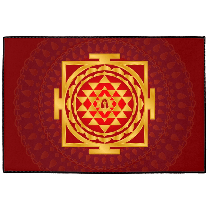 Shri Yantra Door Mat Red