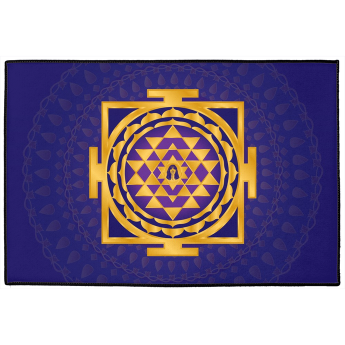 Shri Yantra Door Mat Purple