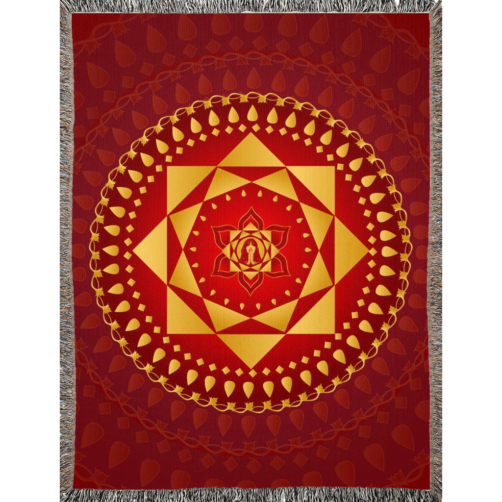 Ashta Lakshmi Blanket Red