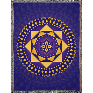 Ashta Lakshmi Blanket Purple
