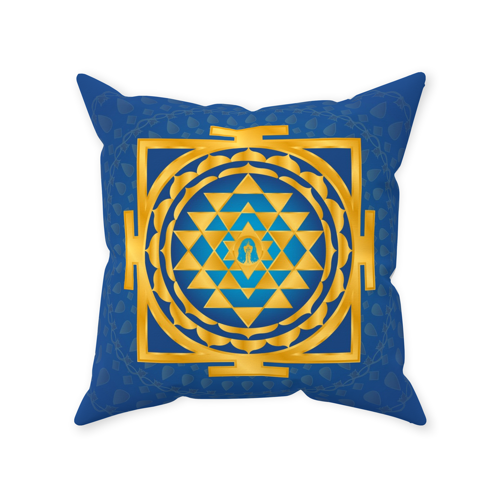 Shri Yantra Pillow Blue