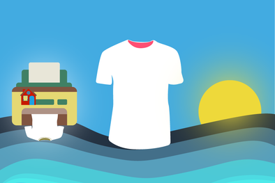 How to start an online T-shirt business.