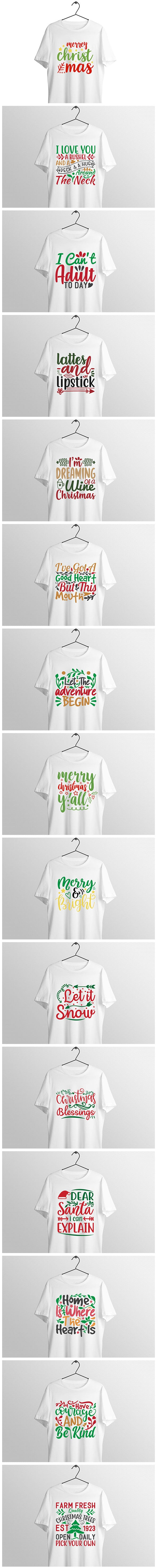 Christmas Svg Tshirt Design Bundle