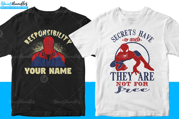 Spider-man T-shirt Design | Tshirtbundles
