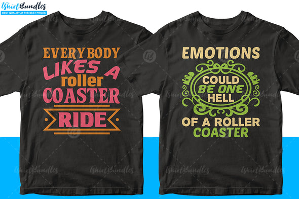 Roller Coaster T-shirt design Bundle | Tshirtbundles