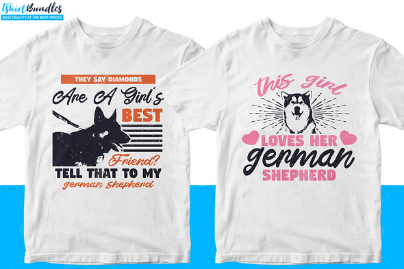 German Shepherd T-shirt design Bundle | Tshirtbundles