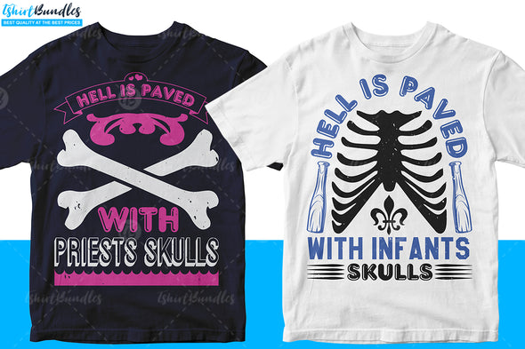 Editable Skull T-shirt Design Bundle | Tshirtbundles