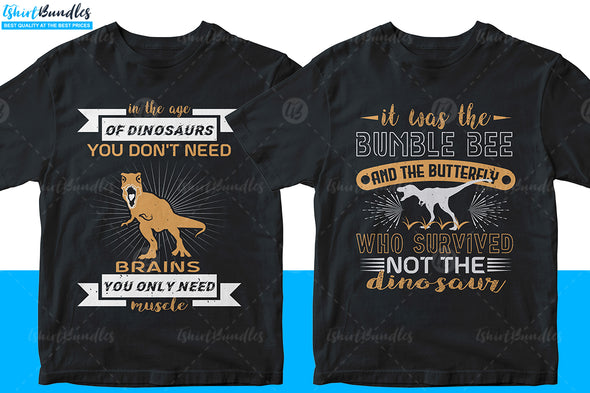 T-rex T-shirt design Bundle | Tshirtbundles