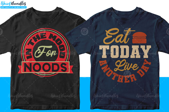 50 Food Drink Editable T-shirt Design | Tshirtbundles