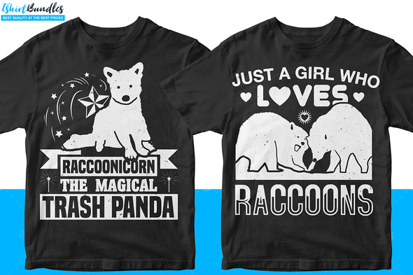 Raccoon T-shirt Design Bundle | Tshirtbundles
