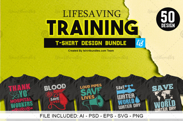 Lifesaving Training T-shirt design Bundle | Tshirtbundles