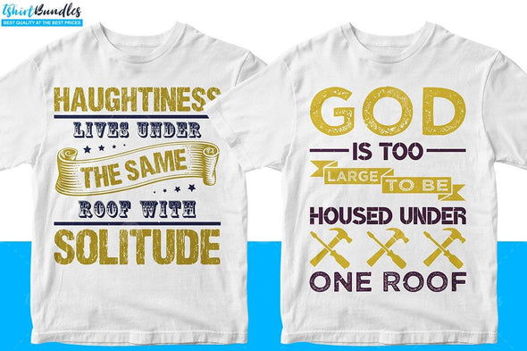 Roofer T-shirt Designs Bundle | Tshirtbundles