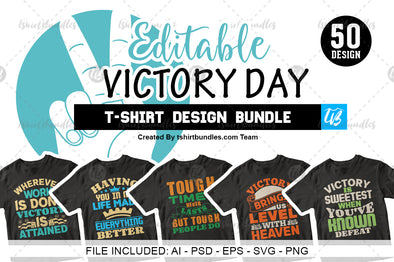 victory day t-shirt design bundle