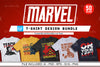50 Editable Marvel T-shirt Design Bundle | Tshirtbundles