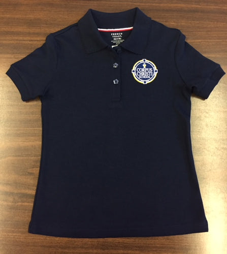 Short Sleeve Girls Polo - Navy
