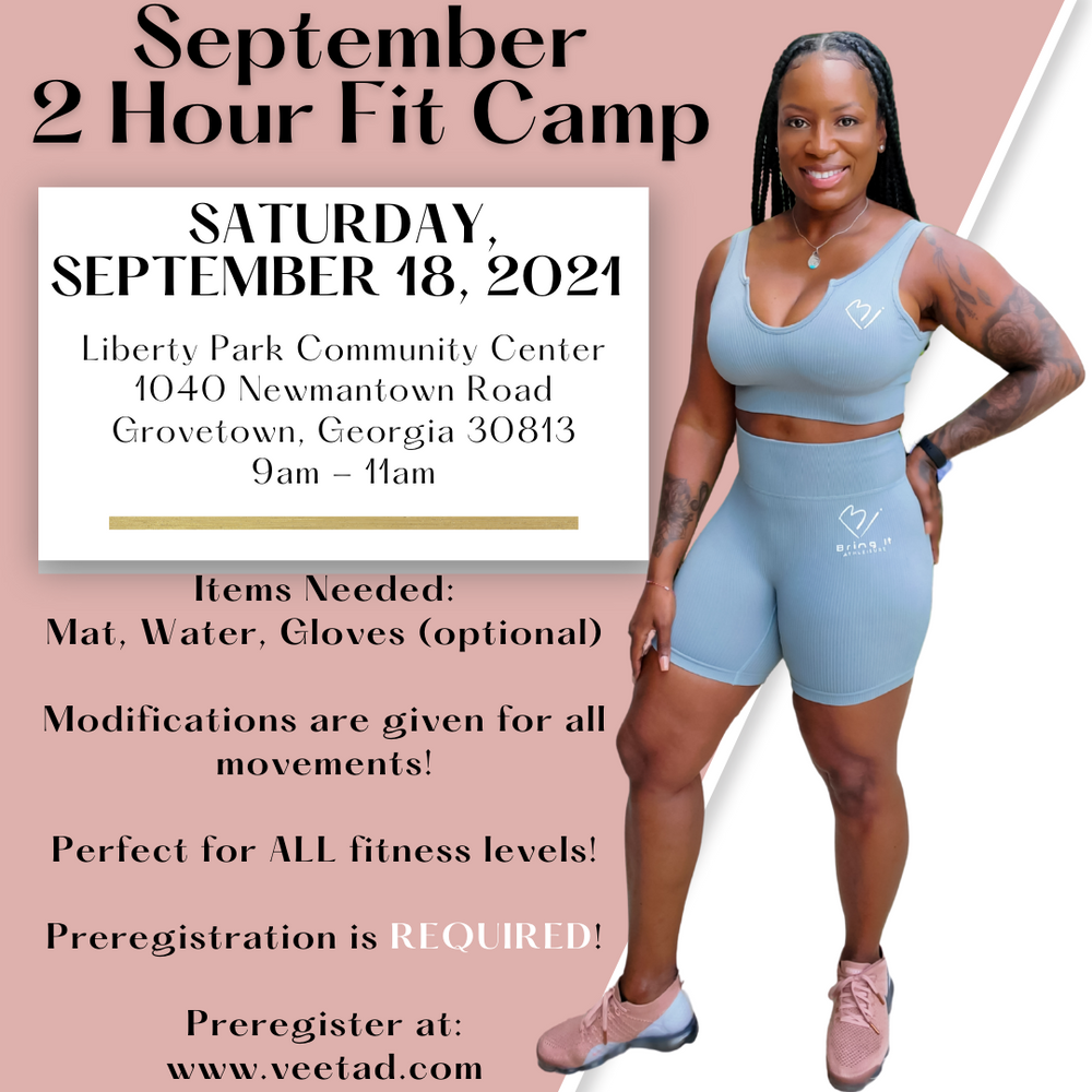 September 21st 2 Hour Fit Camp