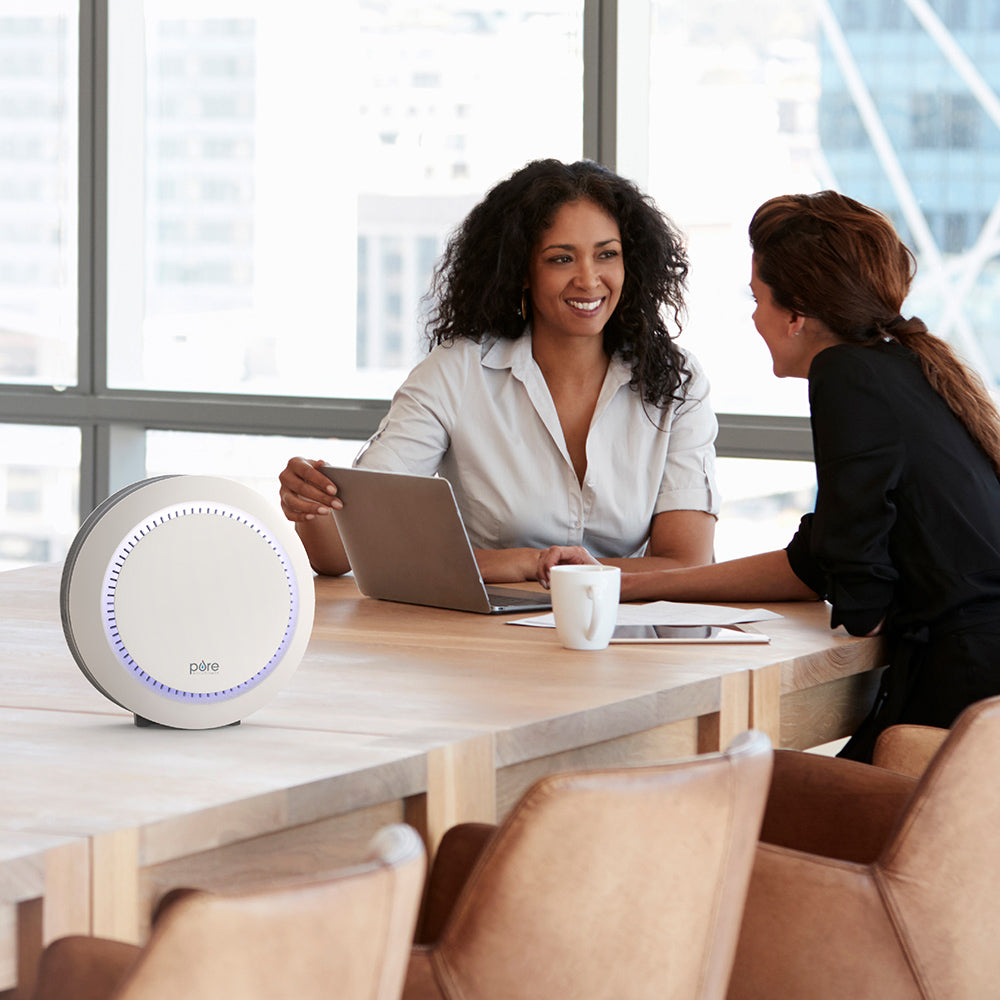 Load image into Gallery viewer, PureZone Halo 2-In-1 True HEPA Desk Air Purifier