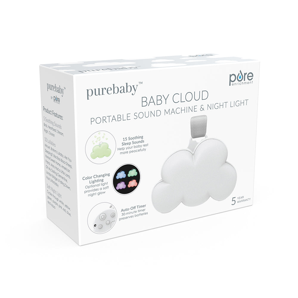 Load image into Gallery viewer, Baby Cloud Portable Sound Machine & Night Light
