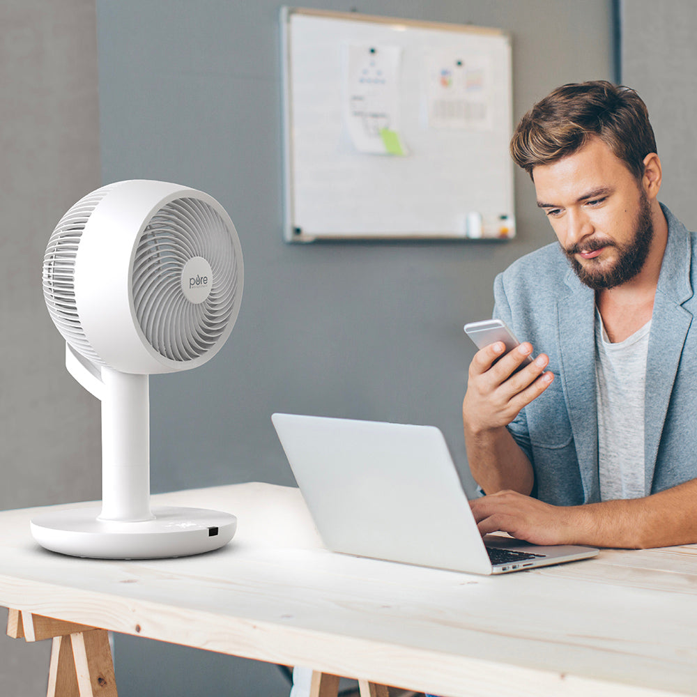 Load image into Gallery viewer, 2-in-1 Circulating Floor & Desk Fan