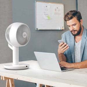 2-in-1 Circulating Floor & Desk Fan