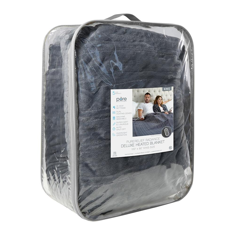 Load image into Gallery viewer, PureRelief Radiance Deluxe Heated Blanket