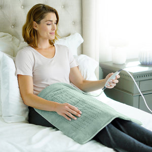 WeightedWarmth™ Extra-Wide Weighted Heating Pad
