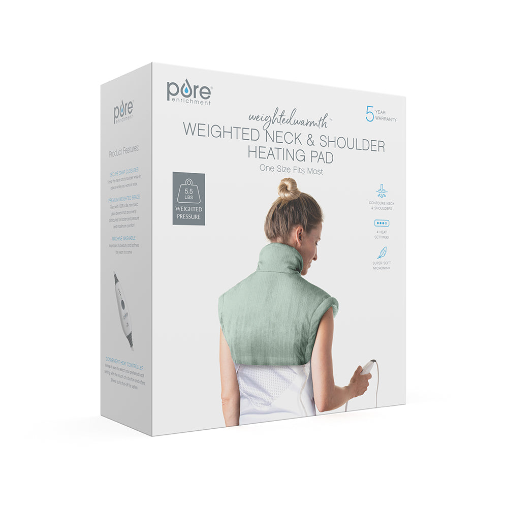 Load image into Gallery viewer, WeightedWarmth™ Weighted Neck and Shoulder Heating Pad | Pure Enrichment®