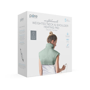 WeightedWarmth™ Weighted Neck and Shoulder Heating Pad | Pure Enrichment®
