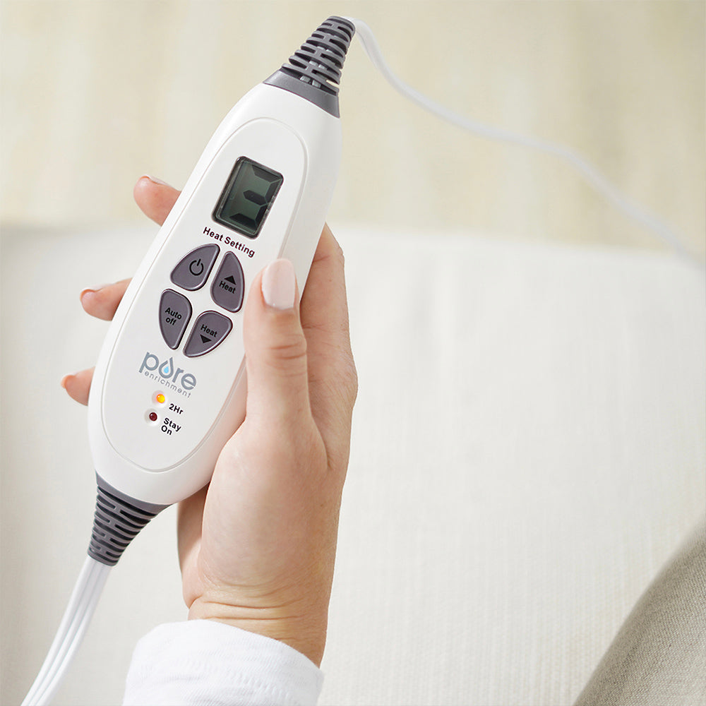 Load image into Gallery viewer, PureRelief™ XXL Ultra-Wide Microplush Heating Pad