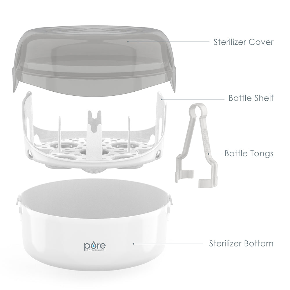 Load image into Gallery viewer, PureBaby® Microwave Bottle Sterilizer
