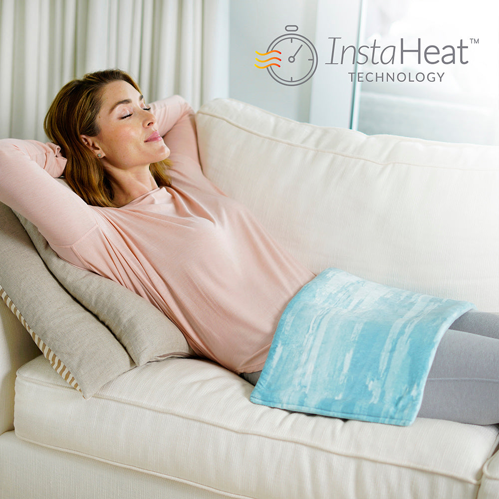 Load image into Gallery viewer, PureRelief™ Luxe Micromink Heating Pad