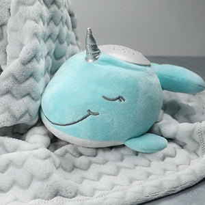 PureBaby® Sound Sleepers Sound Machine and Star Projector - Narwhal