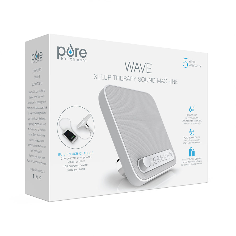 Load image into Gallery viewer, WAVE™ Premium Sleep Therapy Sound Machine in White | Pure Enrichment®
