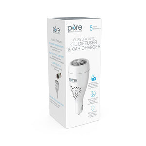 PureSpa™ Auto Oil Diffuser & Car Charger