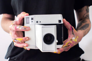 Lomo'instant Square Glass Camera // White Edition