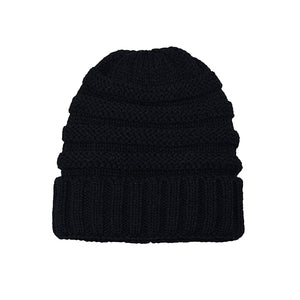 Knitted Beanie black