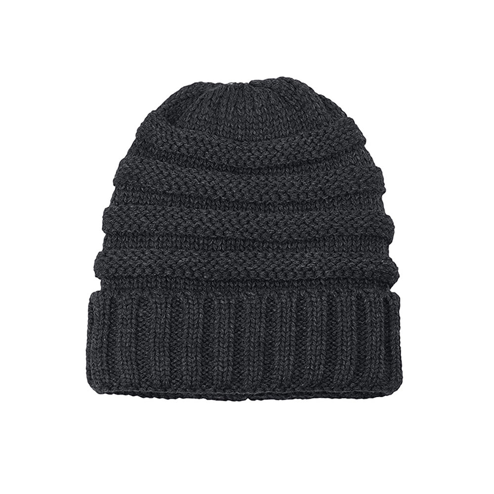 Knitted Beanie charcoal